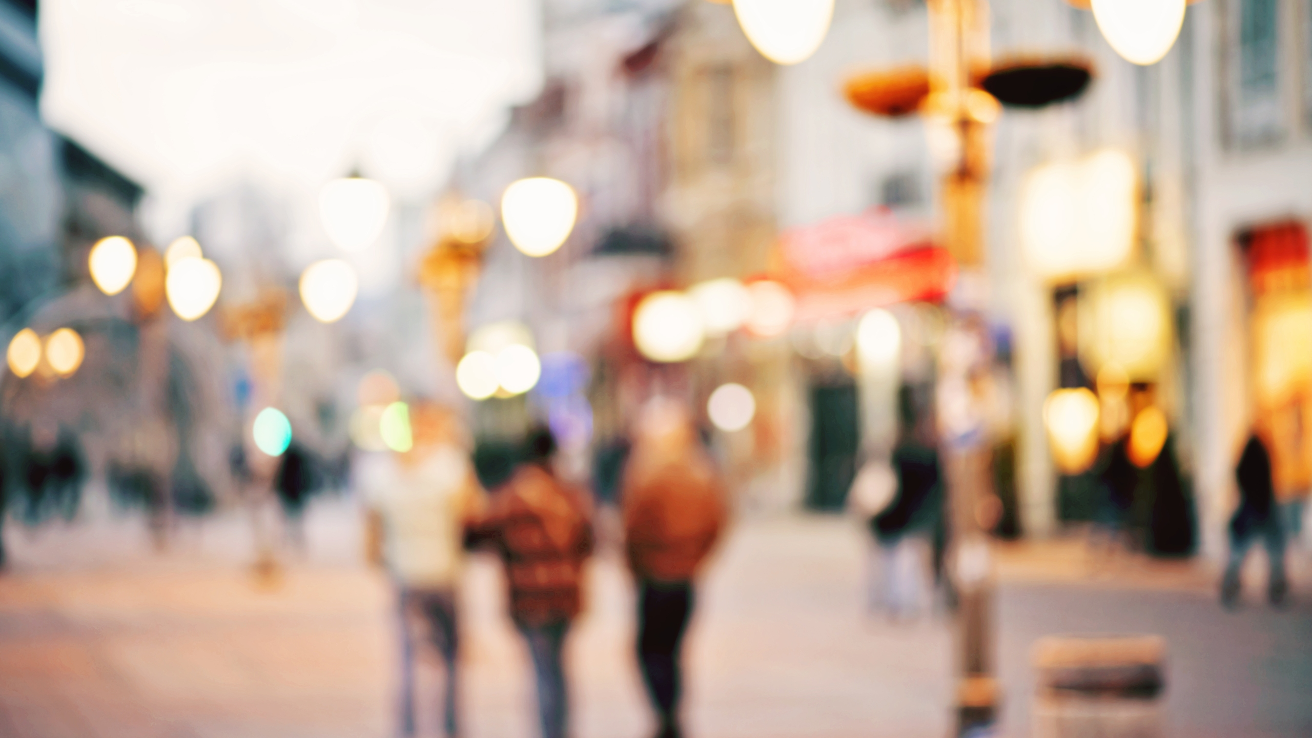 Abstract Blurred Background Of People Walking In City Center_1499361403311