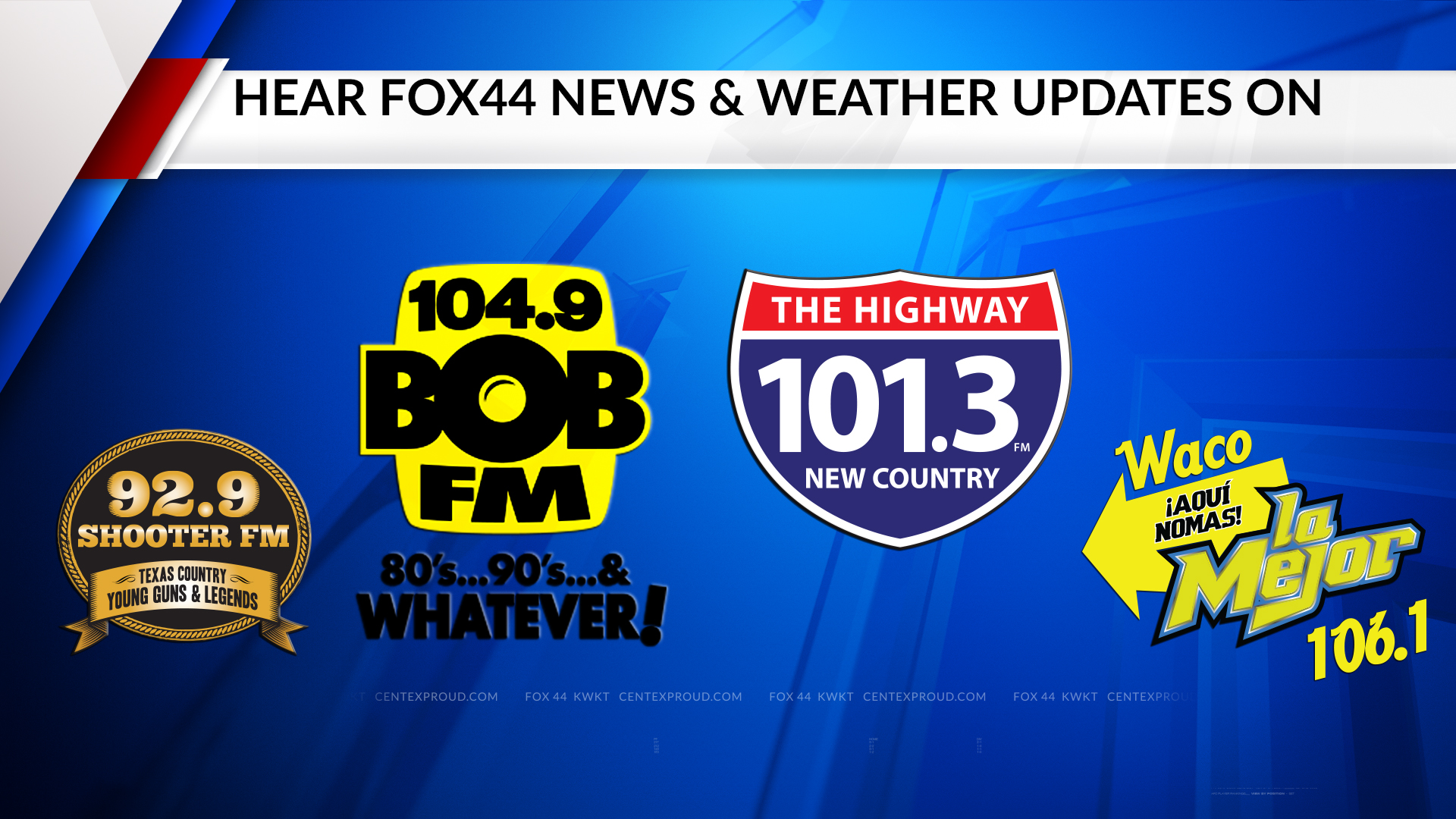 Find FOX 44 on the radio!