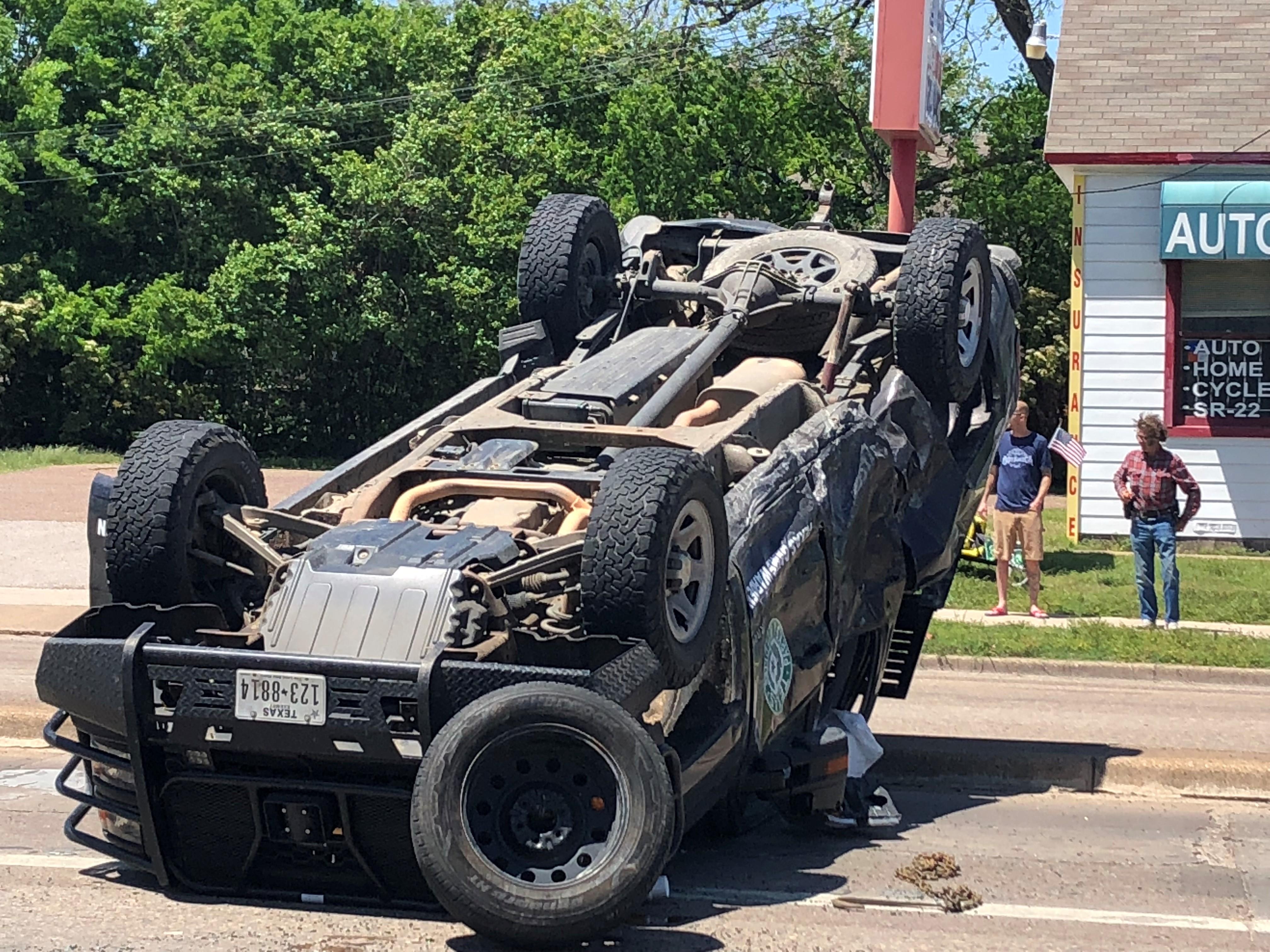 Game Warden Truck Rolls In Waco Dr Crash