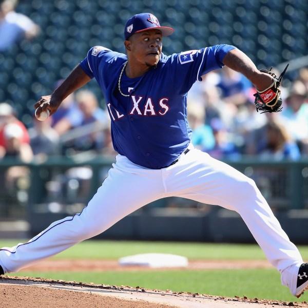 Edinson Volquez Texas Rangers Getty