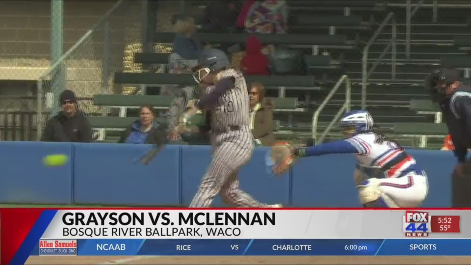 McLennan Softball Sweeps Double-Header with Grayson