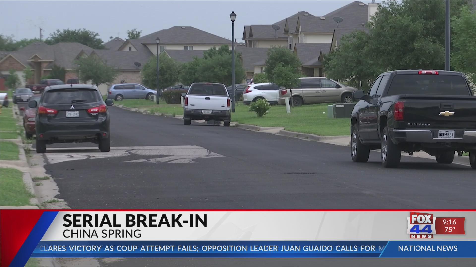 Vehicle break-ins put North Waco, China Spring residents on alert