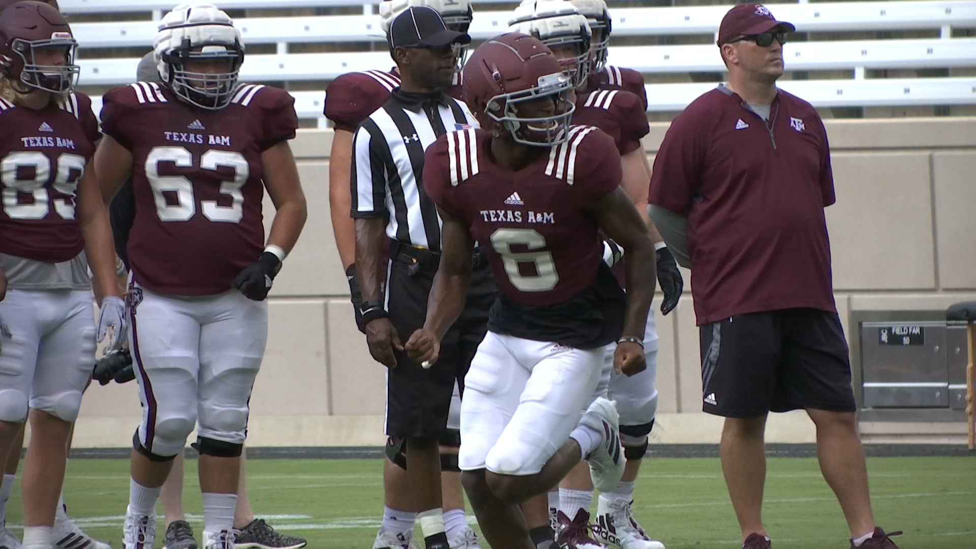 81549768135 Bremond's Paul Continues to climb the depth chart at Texas A&M