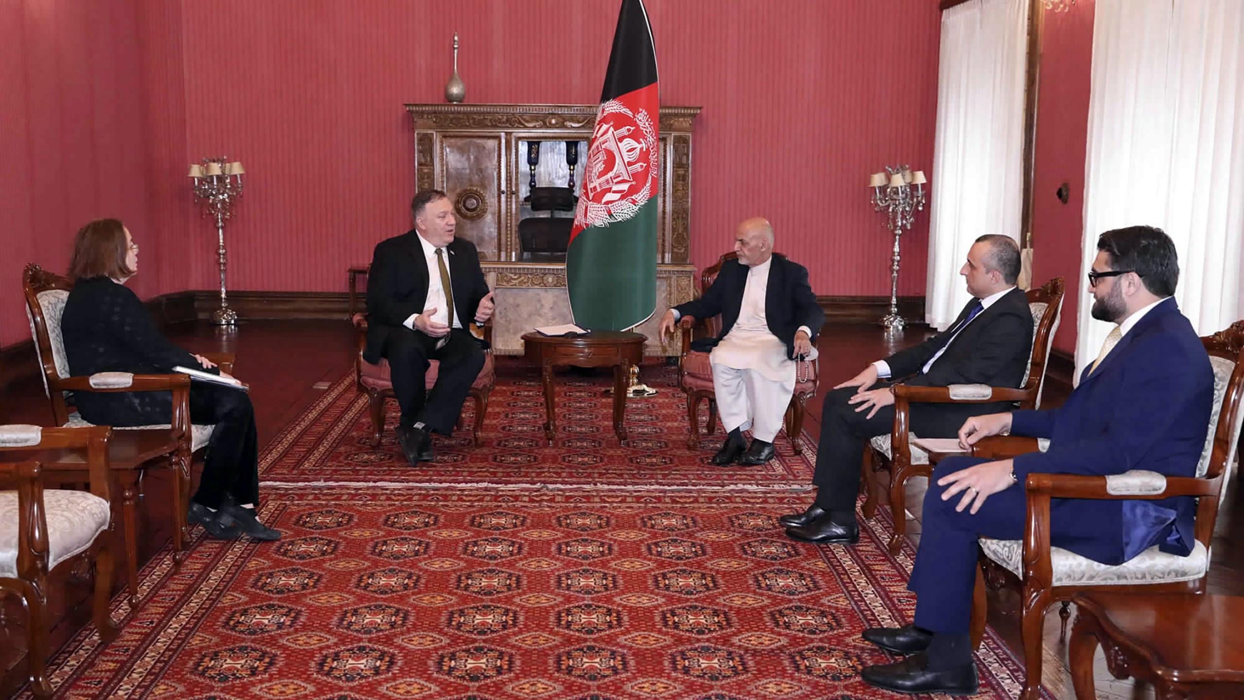 Ashraf Ghani, Mike Pompeo
