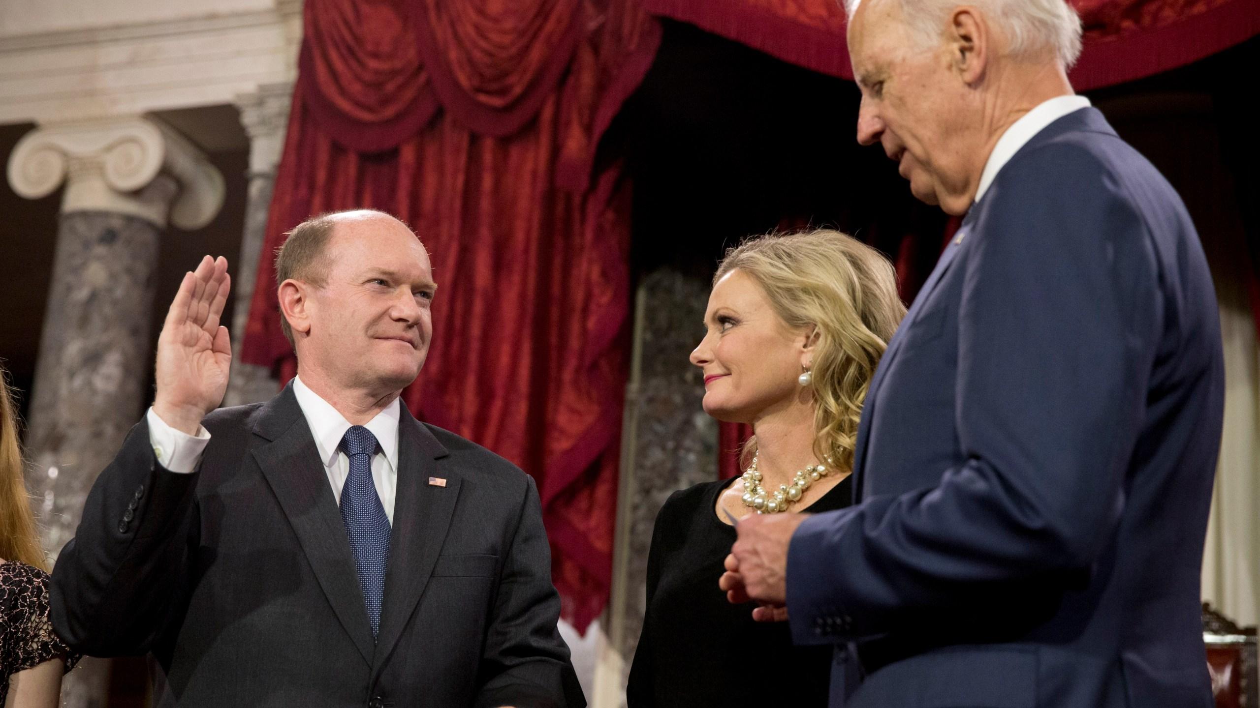 Joe Biden, Chris Coons, Annie Coons
