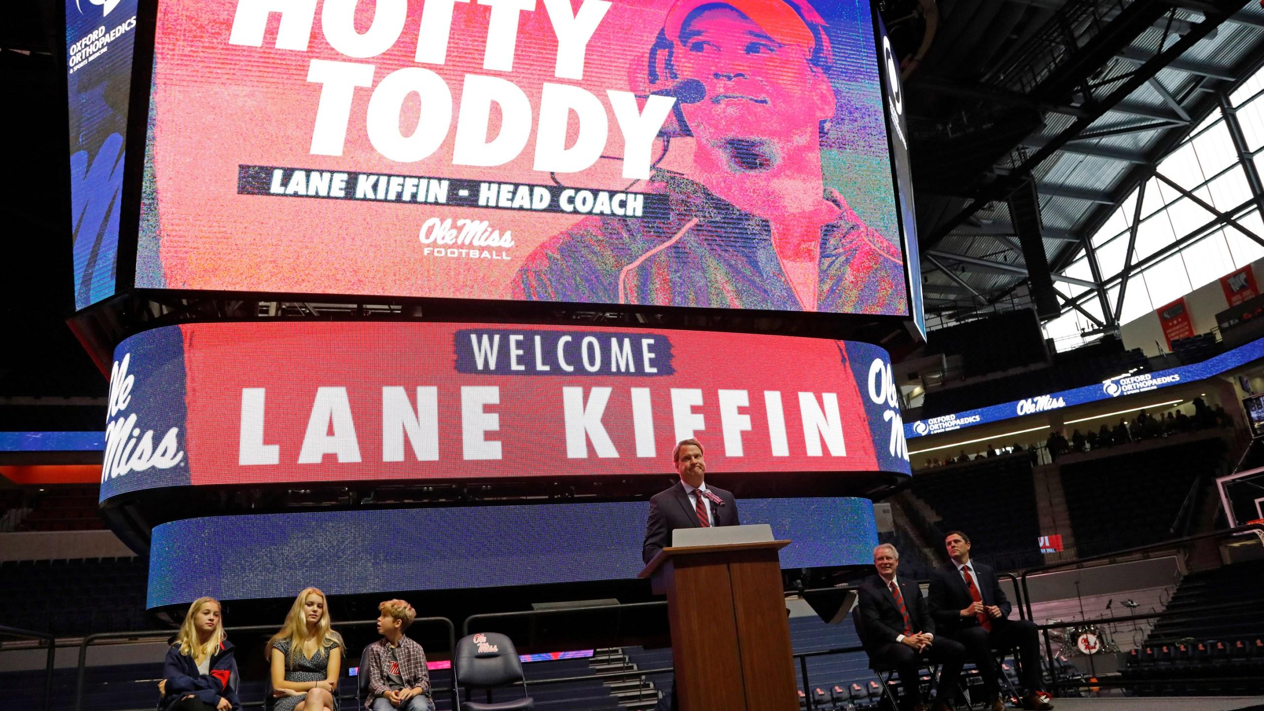 Lane Kiffin, Presley Kiffin, Landry Kiffin, Knox Kiffin