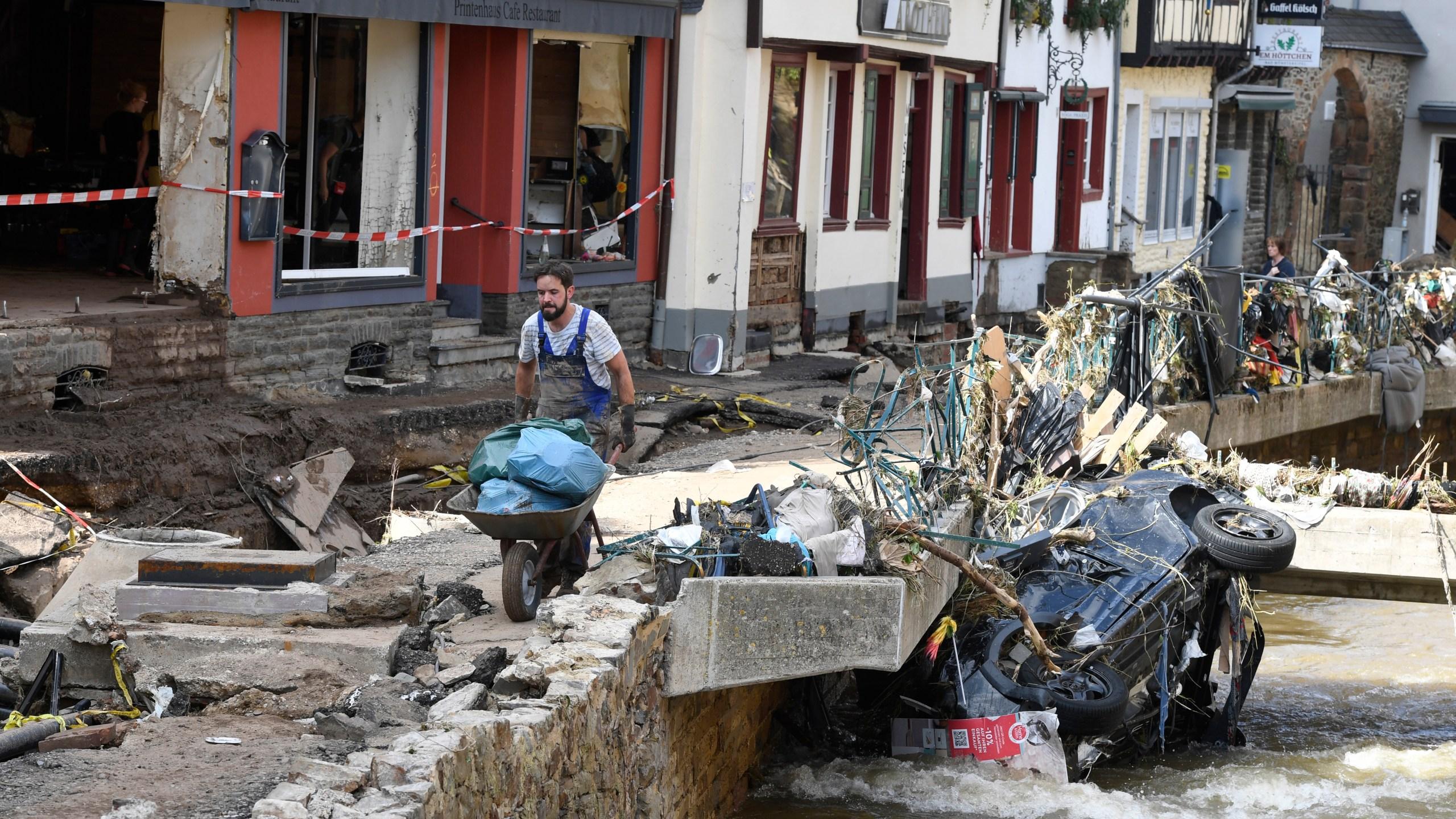 German flood deaths rise above 130 as president is set to visit - Tatahfonewsarena